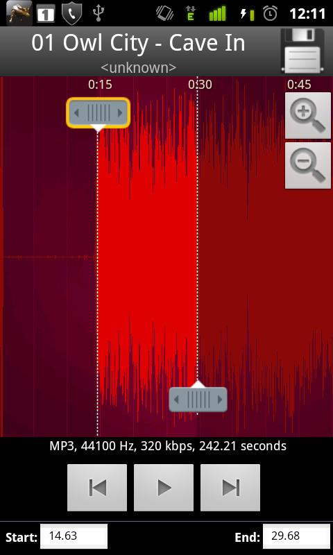 MP3 Cutter & Ringtone Maker !! - screenshot
