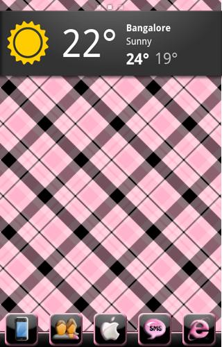 Tema Pink e Black Go Laucher