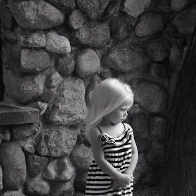 Little child by Lisa James - Black & White Portraits & People