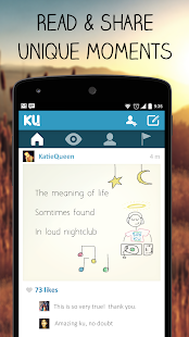 KU - creative social network- screenshot thumbnail