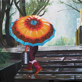 Averse à Chongqing, Chine  by Jonguy Demontigny - Painting All Painting