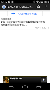Speech To Text Notepad Screenshot