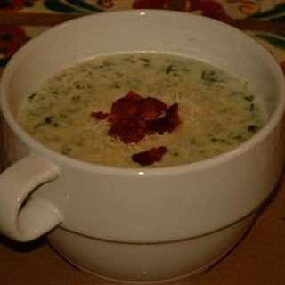 Spinach and Blue Cheese Soup