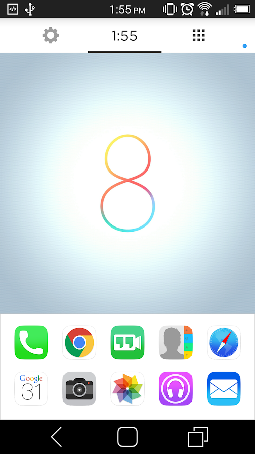 Ultimate iOS8 Launcher Theme - screenshot