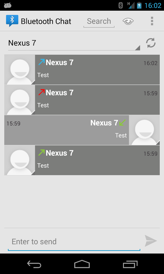 Bluetooth Chat- screenshot