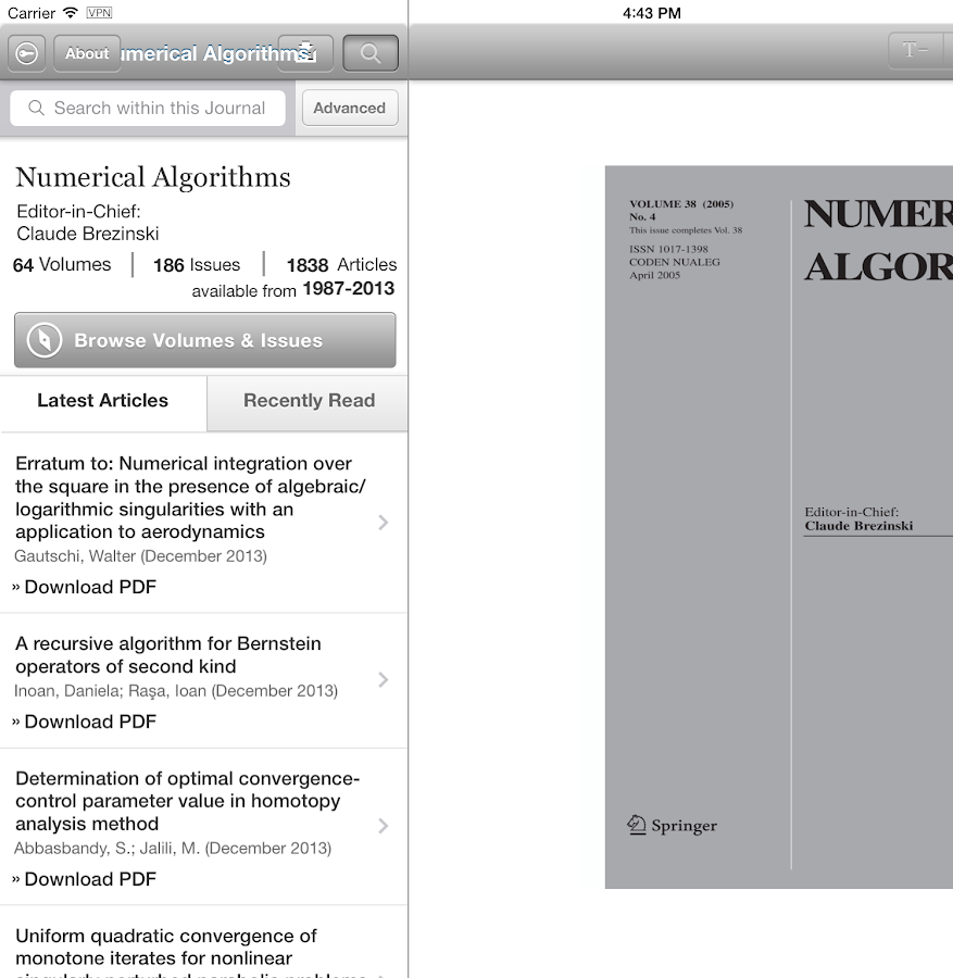 Numerical Algorithms - screenshot
