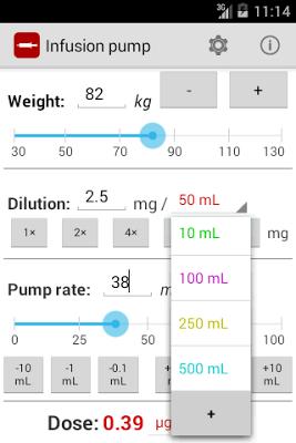 Infusion pump - screenshot