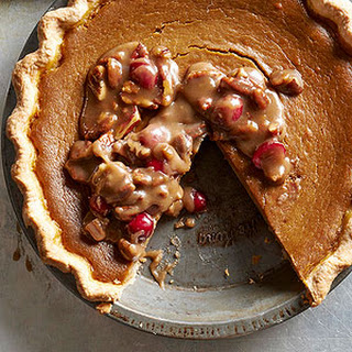 Pumpkin Pie with Pecan Praline Topping