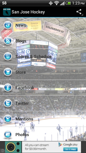 【免費運動App】San Jose Hockey-APP點子