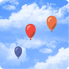 Balloons in the sky icon