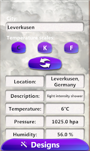 Storm Weather Clock Widget screenshot 3