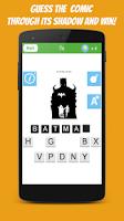 Screenshot of ComicMania: Guess the Shadow