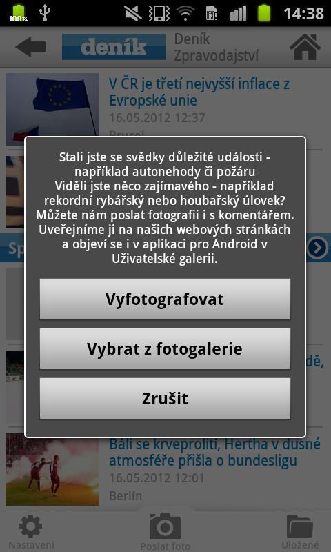 Deník 2.0 - screenshot