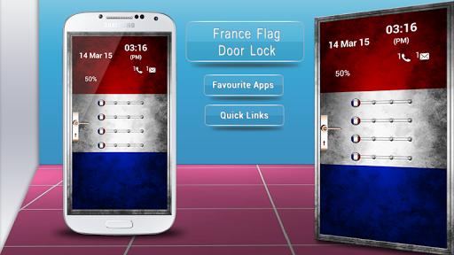 France Flag Door Lock