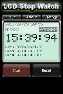 LCD Stop Watch(FREE) - screenshot thumbnail