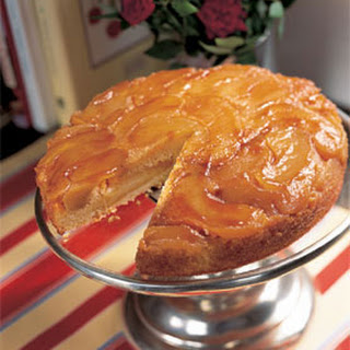 Warm Apple-Cornmeal Upside Down Cake.