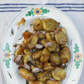 Rosemary roasted Jersey Royals.
