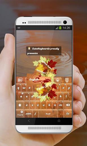 秋天的畫 GO Keyboard
