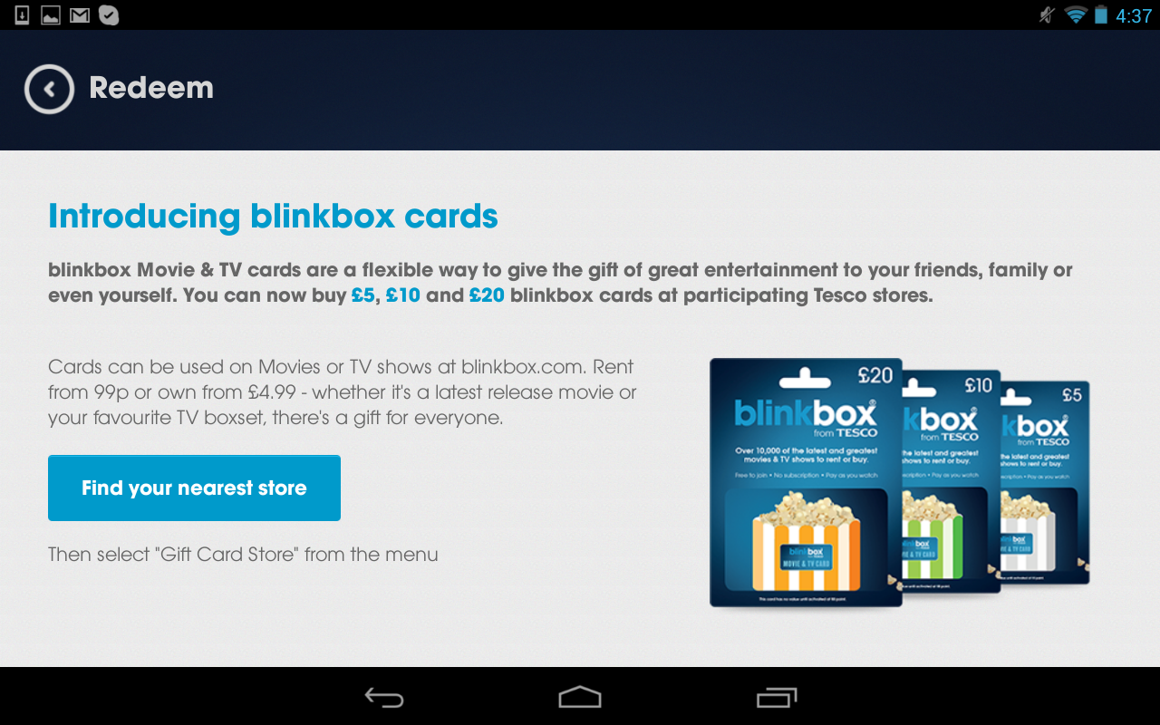 Blinkbox Watch Movies Amp Tv Android Apps On Google Play
