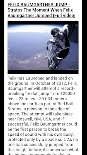 Felix Baumgartner Freefall - screenshot thumbnail