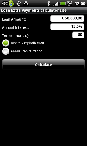 Loan Extra Payments calculator