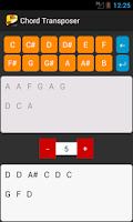 Screenshot of Chord Transposer
