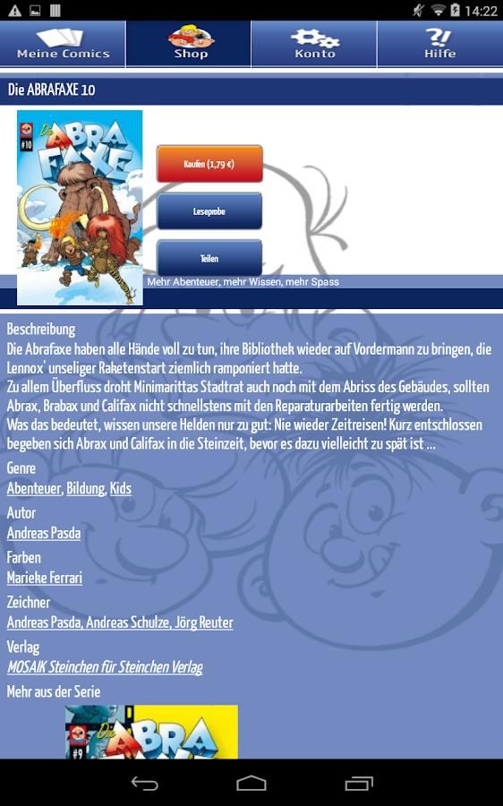 MOSAIK Comics - screenshot