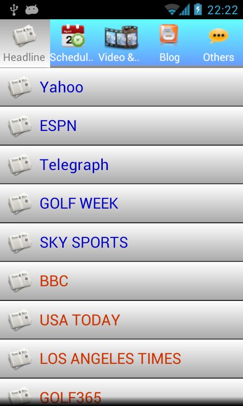 Golf NEWS - screenshot