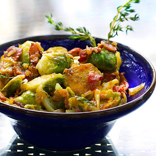 SKILLET BRUSSELS SPROUTS WITH BACON & SHERRY