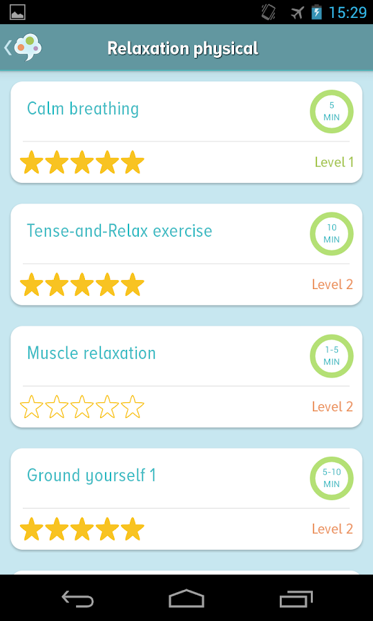 Self-help Anxiety Management - screenshot