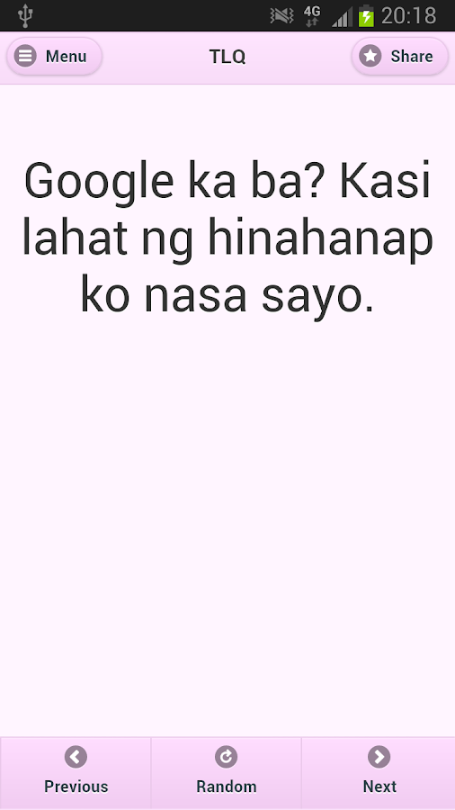 Tagalog Love Quotes - screenshot