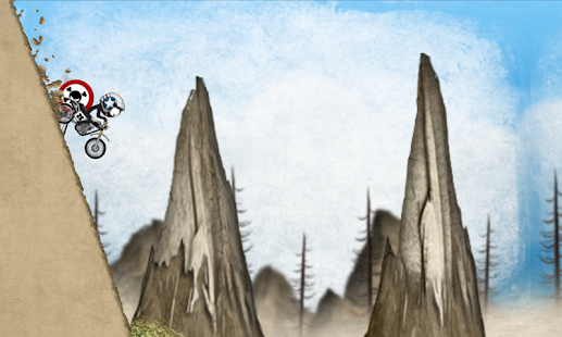 Stickman Downhill Motocross – Miniaturansicht des Screenshots