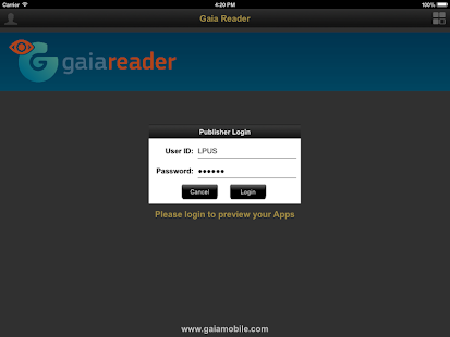 Gaia Reader- screenshot thumbnail