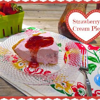 Strawberry Cream Pie.