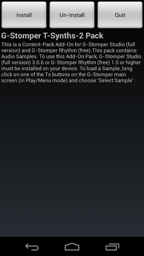 G-Stomper Tonal-Synths-2 Pack - screenshot