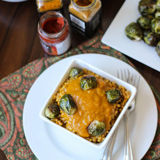 Kabocha Squash Curry with Roasted Brussels Sprouts and Farro