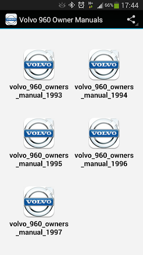 Volvo 960 Owner Manuals