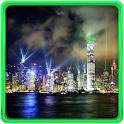 Hong Kong Night Live Wallpaper icon