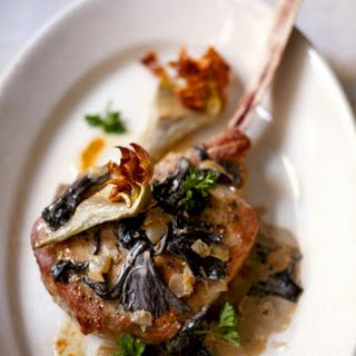 Roasted Veal Chops with Artichokes.