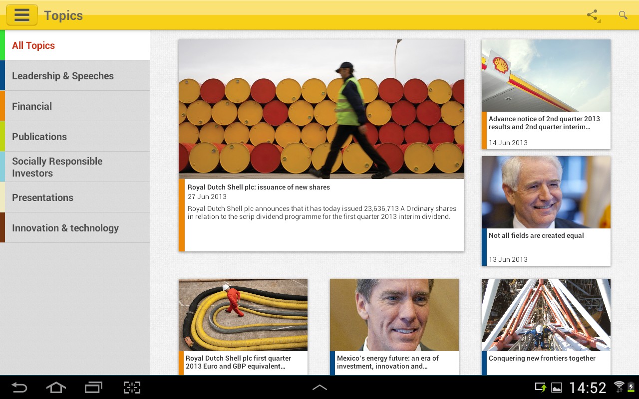 Shell Investor & Media - screenshot