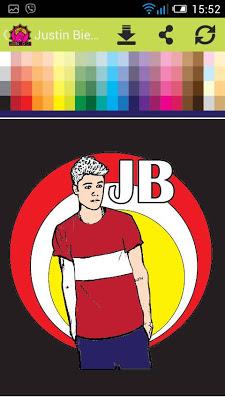 Justin Bieber Color Stylist - screenshot