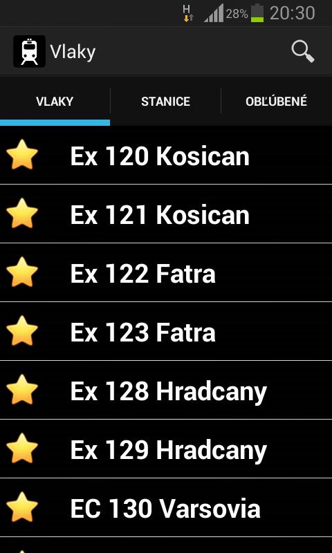 Vlaky- screenshot