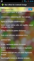 Screenshot of Blur effect sample
