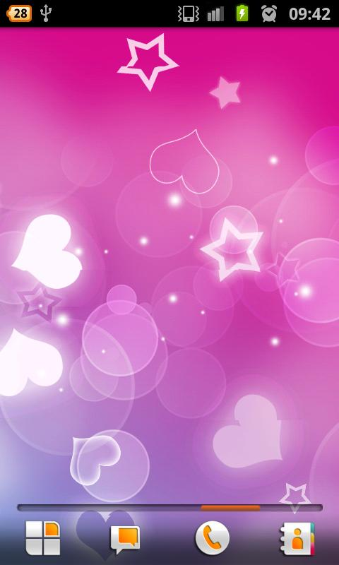 Pink Hearts – Live Wallpaper - screenshot