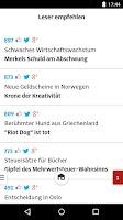 Screenshot of SZ.de - Nachrichten