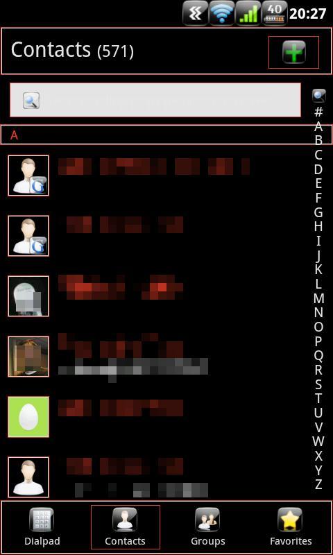 Anastasdroid GoContactsEx Free- screenshot