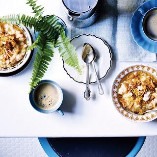 5-Grain Porridge with Bee Pollen, Apples, and Coconut