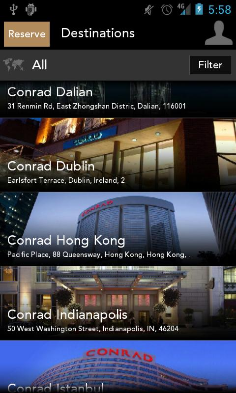 Conrad Concierge - screenshot