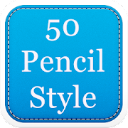 50 Pencil Fonts Style 4.1 Icon