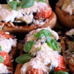 Butternut Stuffed with Grilled Vegetables and Goat Cheese